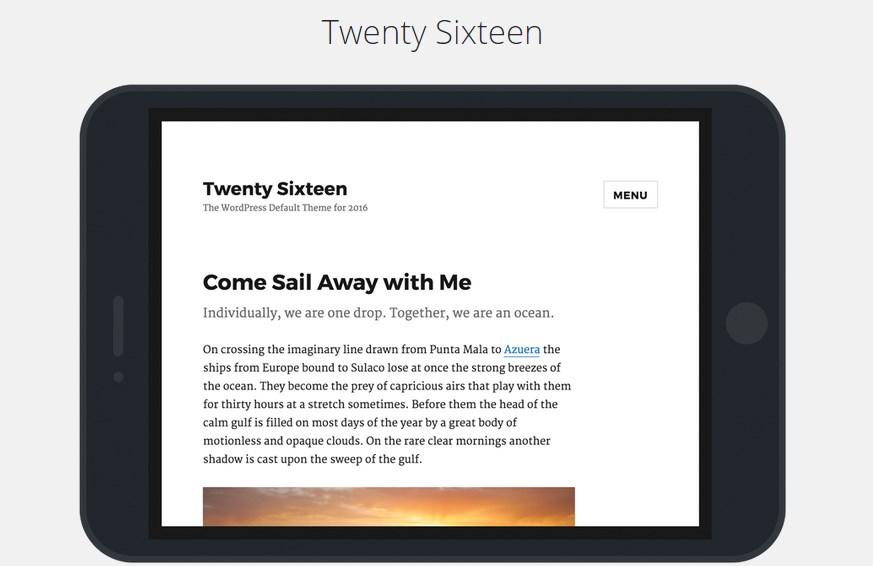 WordPress 4.4, новая дефолтная тема
