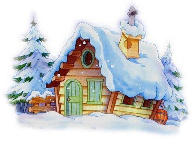 новогодние домики картинки 5