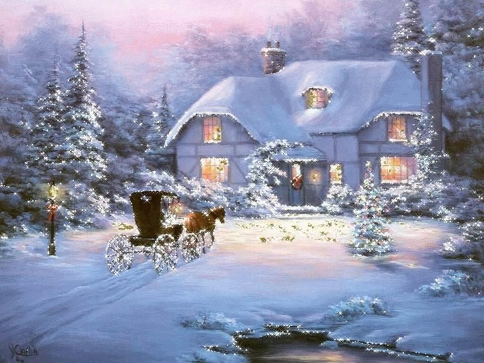 новогодний пейзаж картинки 1
