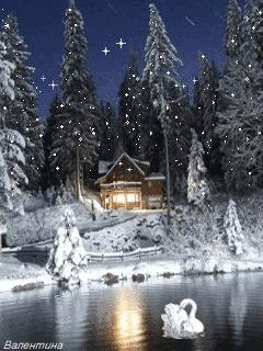 новогодний пейзаж картинки 7