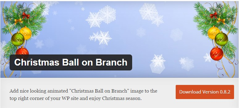 Новогодний плагин Christmas Ball on Branch