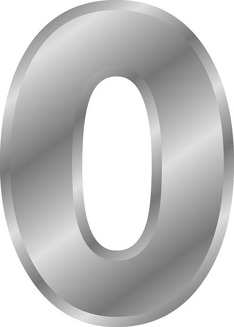 Цифра 0 шаблон