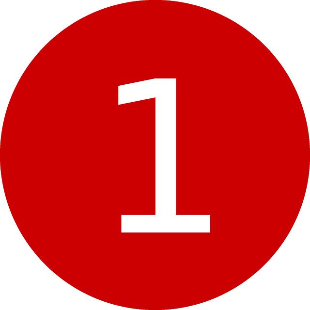 Цифра 1 шаблон