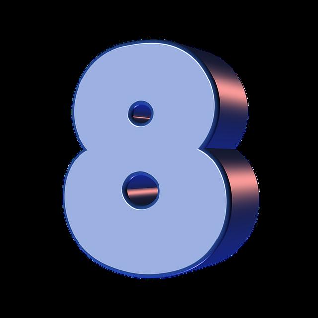 Цифра 8 шаблон: 15 красивых картинок