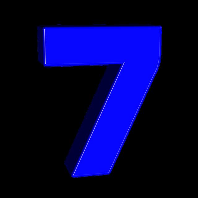Цифра 7 шаблон — 22 красивых картинки