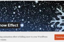 Как украсить сайт к Новому году (3)  Новогодний плагин WP Snow Effect