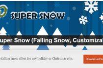Лучший плагин снега для сайта на WordPress WP Super Snow