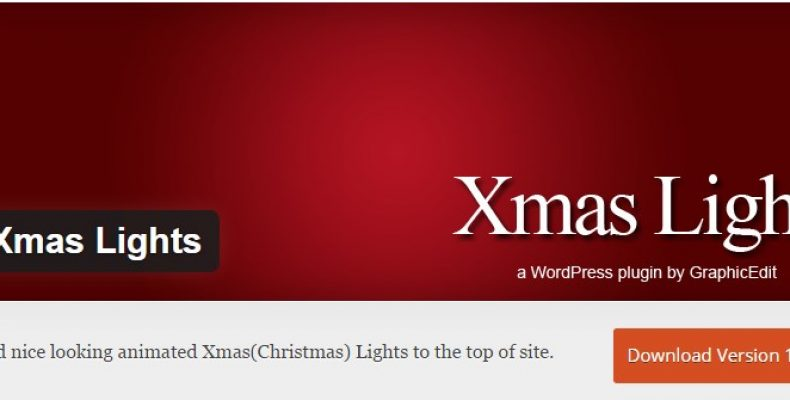 Новогодний плагин Xmas Lights