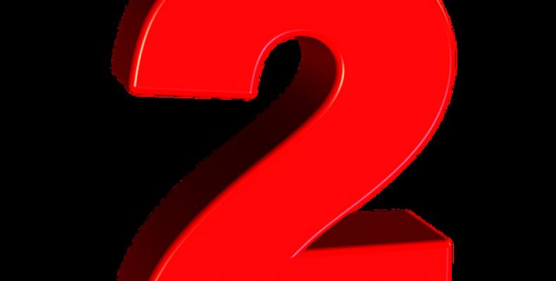 Цифра 2 шаблон — 22 красивых картинок