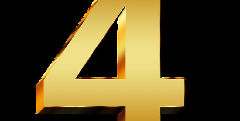Цифра 4 шаблон — 25 красивых картинок