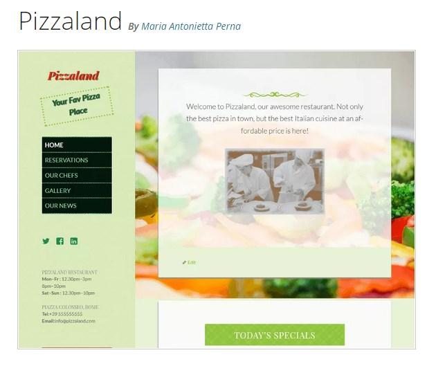 кулинарный сайт шаблон 0