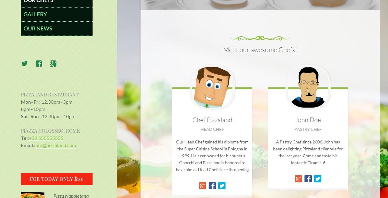 кулинарный сайт шаблон 3