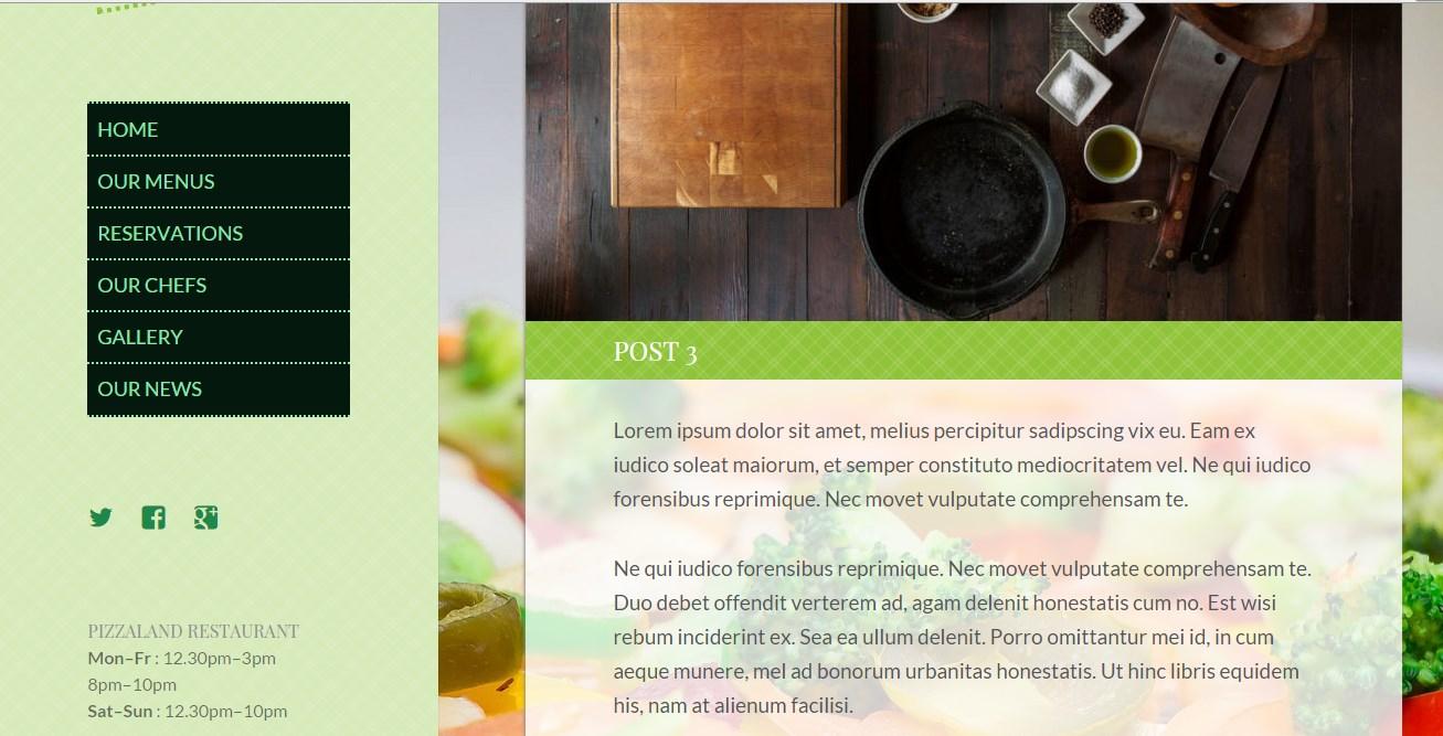 кулинарный сайт шаблон 5