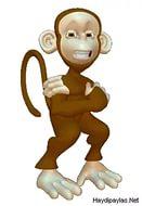 новогодние картинки обезьяна 12