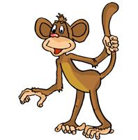 новогодние картинки обезьяна