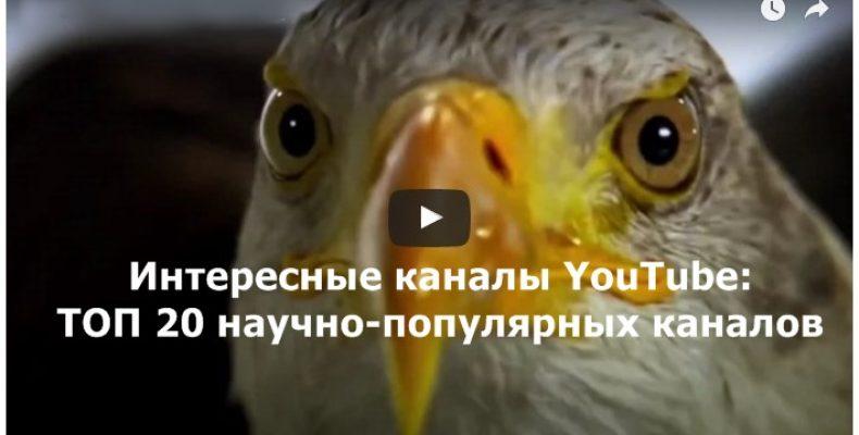 Интересные каналы на YouTube: ТОП-20 научно-популярных