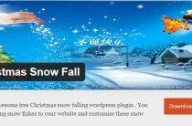 Новогодний плагин для WordPress Christmas Snow Fall