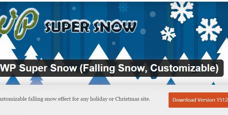 Лучший плагин снега для сайта на WordPress WP Super Snow
