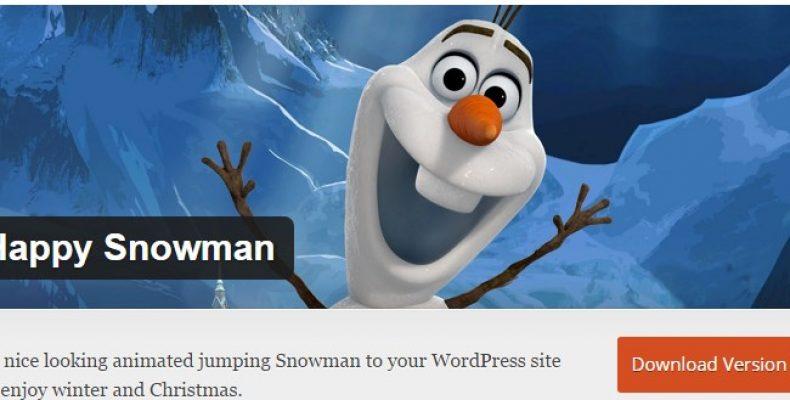 Снеговик на сайт с помощью плагина. Новогодний плагин Happy Snowman